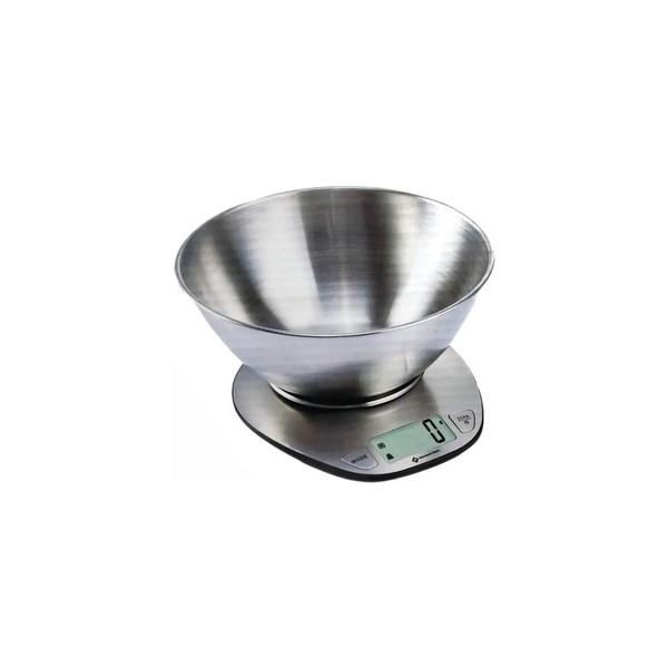 Balança Digital De Cozinha, Bowl de Aço Inox, até 5Kg