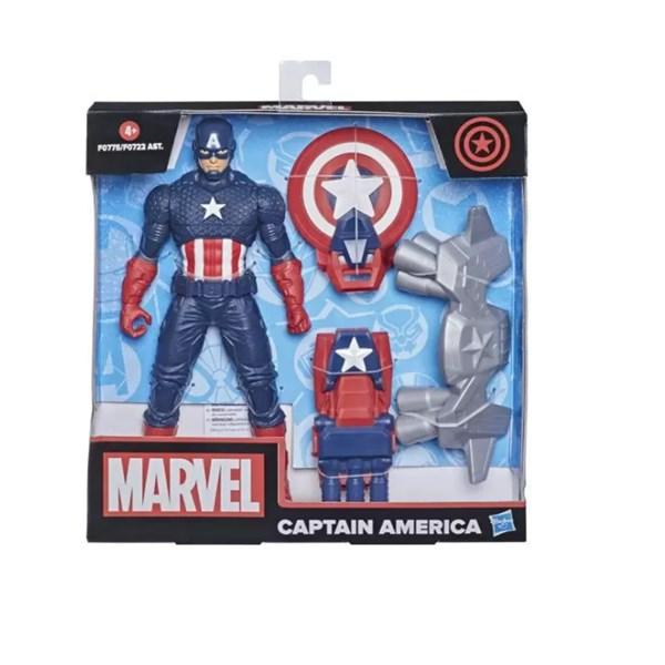 Boneco Capitão América Articulado, Acessórios Hasbro F0775