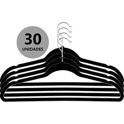 Cabide Aveludado Ultrafino, 30 unidades