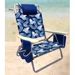 Cadeira de Praia, Capri com Bolsa Térmica e Porta Copo Duplo - Azul