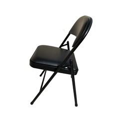 Cadeira Dobrável Alumínio Estofada Almofadada Maxchief Preta