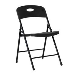 Cadeira Dobrável Maxchief Assento Plástico Até 190 Kg Preta