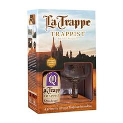 Cerveja Quadrupel La Trappe Trappist,  Kit com 1 Garrafa 750ml + Taça