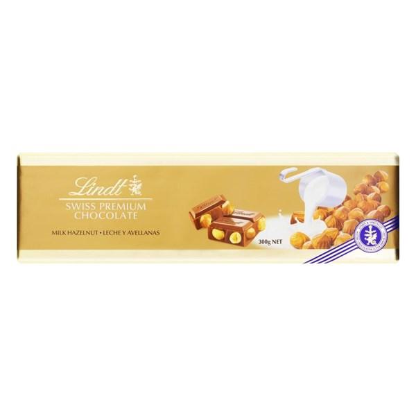 Chocolate Premium Lindt Swiss Gold,  Avelã - 300 G