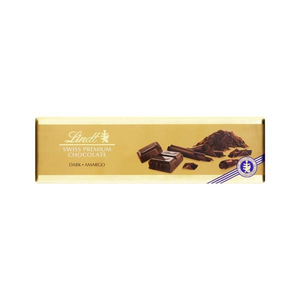Chocolate Premium Lindt Swiss Gold, Dark Amargo - 300 G