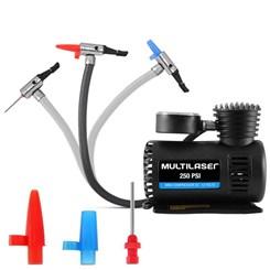 Compressor de Ar  12V Vazão, 3 Bicos, 15L/Min, 250PSI - Multilaser