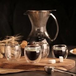 Conjunto de Copos para Café, 6 peças, Parede Dupla, 80ml