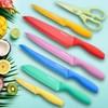 Conjunto de Facas, 6 peças, 6 protetores de lâmina, Tesouras de cozinha - Tomodachi Bright