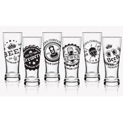 Copos Braminha Brewery Beer , 6 peças - H.Martin