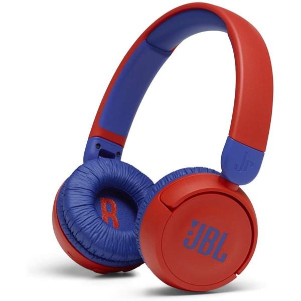 Fone de Ouvido JBL Bluetooth JR310, Sem Fio - Vermelho / Azul