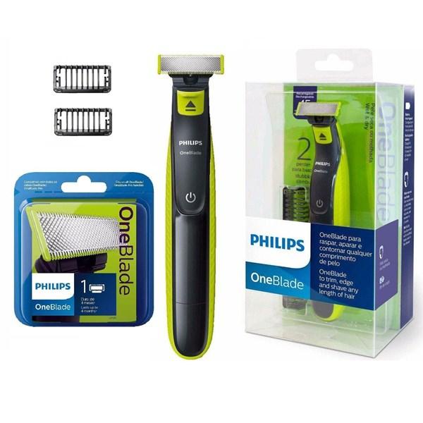Kit Barbeador Elétrico Philips One Blade QP2521 + Refil