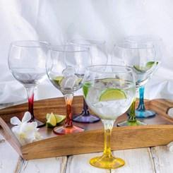 Kit Taças de Gin com 6  de vidro Lav Coral - 645 ml