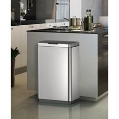 Lixeira Automática, Inox Com Sensor - 50 litros