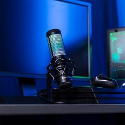 Microfone Gamer HyperX QuadCast S, Led RGB, USB /HMIQ1S-XX-RG