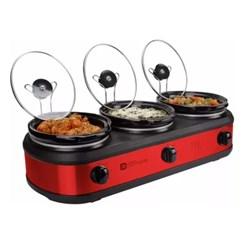 Rechaud Elétrico Triplo Buffet Slow Cooker 127V