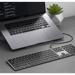 Teclado Satechi para Mac, Slim X3 Inglês, Com Fio