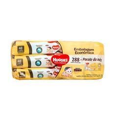 Toalhas Umedecidas Puro e Natural, Huggies, 6 Pacotes 48 Unidades