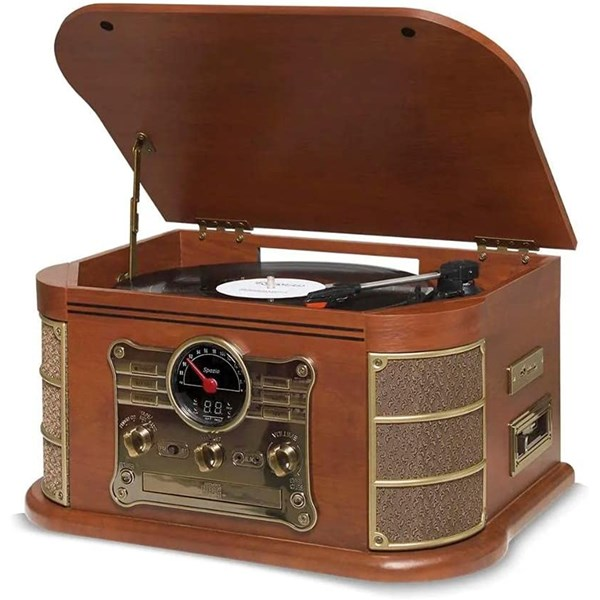 Vitrola Spazio, Vinil Cd K7, Bluetooth - Retrô Vintage